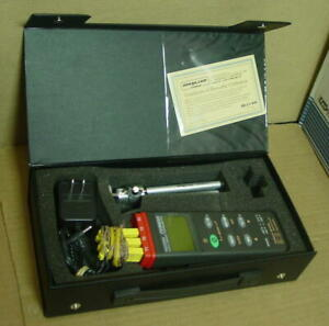Omega Hh309a Rs232 Data Logger Thermometer W tripod Power Supply