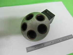 Microscope Part Leitz Germany Nosepiece As Is Bin 64 21 a