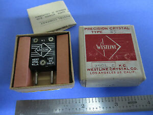 Vintage Ft 243 Quartz Radio Crystal Westline Los Angeles Frequency 3784 5 Kc New