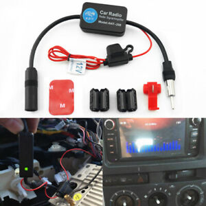 Universal Car Fm Radio Aerial Antenna Signal Reception Amp Amplifier Booster Abs