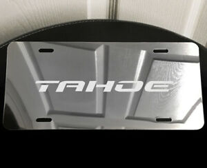 Tahoe Automotive Vanity License Plate Laser Etched Mirror Aluminum Fits Chevy S