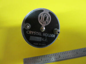 Vintage Quartz Radio Crystal Ica New York Ceramic Holder Frequency