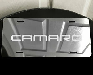 Camaro Logo Car Vanity License Plate Laser Etched Mirror Aluminum Fits Chevy S