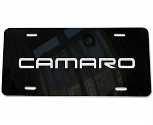 Camaro Logo Car Vanity License Plate Laser Etched Mirror Aluminum Fits Chevy B