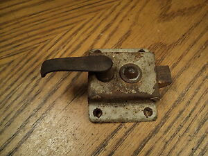 Antique National Screen Storm Door W Latch Lock Push Button Slide Lock 3 1 8