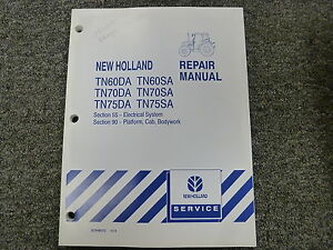 New Holland Tn60 Tn70 Tn75 Da Sa Tractor Shop Service Repair Manual 55