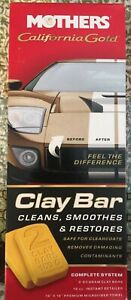Mothers California Gold Clay Bar Kit Shines Protects Car Truck Care