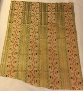 Vintage French Silk Linen Fabric 27 X 24