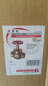Giacomini A86 2 1 2 Nst X 2 1 2 Fire Hose Valve Male To Female Str Pattern