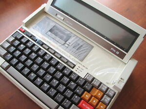 Very Rare New Vintage Nos Epson Px 8 Earliest Portable Lcd Laptop Computer