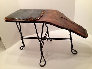 Old Wood Wire Shoe Store Salesman Bench Stool C 1890 S