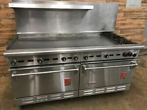 Wolf 68 Commercial Range K68d 684 Griddle 2 Burner Standard Convection Oven