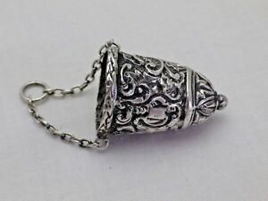 Antique Silver Chatelaine Thimble Holder 1888 E F Braham 618 9 Ywg
