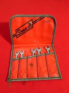 Snap On Vintage C 52d Set Of Small Combination Wrenches 5 Pieces 6point