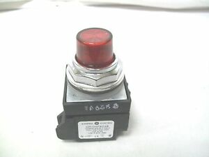 Ge Cr104pbl00r1s8 Illuminated Pushbutton Full Voltage With Red Lens 24 V Ac dc