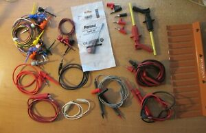 Lot Of Test Leads Jumpers Related Terminals And Rack Pomona Fluke E z Hook