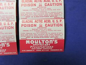 25 Old Poison Pharmacy Apothecary Drug Store Medicine Bottle Label Lot