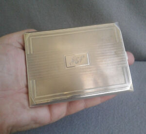 Charles S Green Co 1933 English Sterling Silver Art Deco Cigarette Case 164 4g