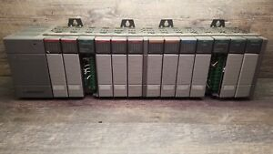 Allen bradley Slc500 1746 p2 Ser C 13 Slot Rack W 13 Modules