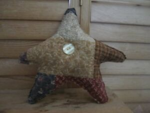 Primitive Americana Quilted Star Mustard Barn Red Blue 6