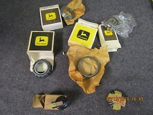 Box Lot Of Vintage John Deere Tractor Parts In Original Boxes Bearings