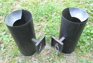 Pair Of Mid Century Modern Industrial Steam Punk Cylinder Sconce Lights