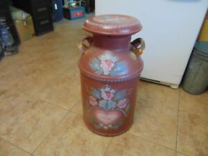 Vintage Antique Milk Can Nice For Decor 6047