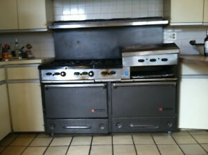 Garland 60 Gas Commercial Lp Range 6 Burner 24 Griddle Two Ovens