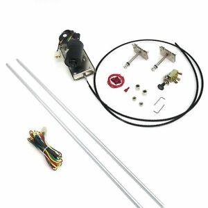 Wiper Kit W Wiring Harness Socal 12 volt For 1955 57 Chevy Bel Air 4 Foot