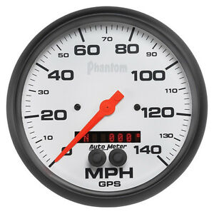 Autometer Phantom Series 5 Gps Speedometer Gauge 0 140 Mph 5881