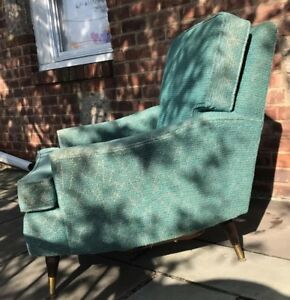 Vintage 50s 60s Mcm Atomic Arm Club Chair Retro Mid Century Modern Furniture Vtg
