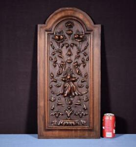 Large French Antique Carved Architectural Panel Door Solid Walnut Wood