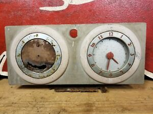 1937 Oldsmobile Glove Box Door W Electric Clock Light Ash Tray 37 Olds