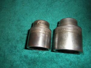 Snap On Ldh442 1 3 8 3 4 Drive 12 Point Ldh482 1 1 2 Lot Of 2