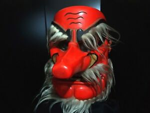 Japanese Woodcrafted Tengu Noh Mask Marvelous Quality 1970 Mask