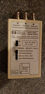 Hp Quick Start Signal Source For Use With Hp 53310a