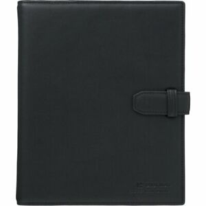 Jim King Shot Notebook Leather Loose leaf Binder A5 9182lb Black New