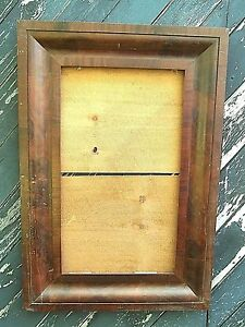 Large Antique Early 19th Century American Empire Mahogany Frame And Backboards