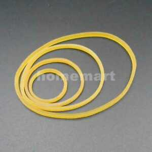 1 5mm Silicone Rubber Band Drive Belt Pulley Bands Motor Diy 19mm 28mm 40mm 55mm