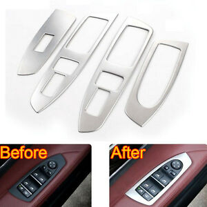 For Bwm 7 Series F01 Accessories Door Armrest Window Lift Switch Button Cover