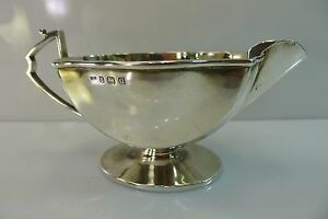 Old 1932 English Solid 156 Grams Sterling Silver Gravy Sauce Etc Boat Bowl