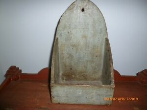 Antique Primitive Robin S Egg Blue Wall Box Aafa