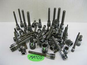 Matco Silver Eagle Tools Sockets Sold Each Torx Inverted Hex Sae Metric