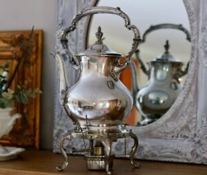 Vintage Old English 5000 Silver Plate Coffee Pot By Poole With Stand