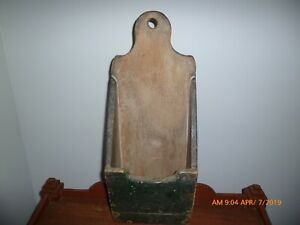 Antique Primitive Wall Box In Green With Date Aafa