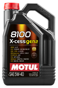 Motul 8100 X Cess 5w 40 100 Synthetic Engine Oil 5l 102870