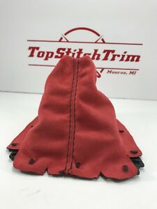 Fits 1999 05 Mazda Miata Mx 5 Nb Red Suede Shift Boot