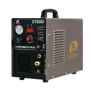 Lotos Plasma Cutter tig Welder Model Ct520d With Welding Pedal And Consumables