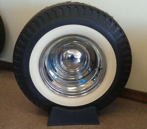 15 Tire White Walls Wide Oval Insert Trims Vw Beetle Ford Chevy Baby Moon Style