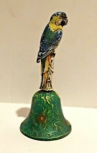 Super Antique Cast Iron Parrot Service Dinner Bell By Hubley The Doorstop Maker